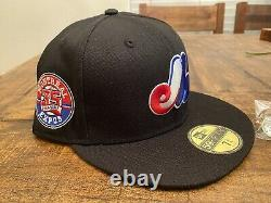 Hat Club Exclusive Black Dome Montreal Expos 35th Anniversary New Fitted 7 3/4