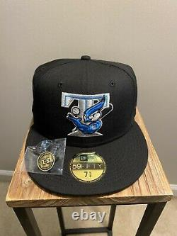 Hat Club Exclusive Black Neon Blue Toronto Blue Jays New Era Fitted Cap 7 5/8