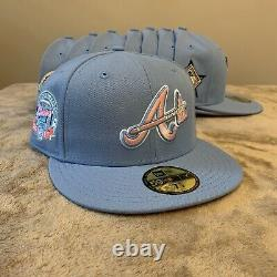 Hat Club Exclusive Cotton Candy Pinky Brim UV New Era 59Fifty Fitted MLB Pin