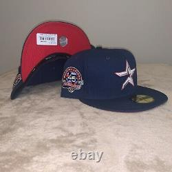 Hat Club Exclusive Crossover Astros Red Brim UV New Era 59Fifty Fitted MLB Pin