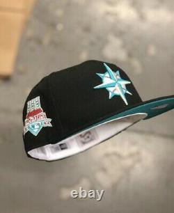Hat Club Exclusive Emerald Bay Mariners 1997 All Star Game Patch Teal UV 7 3/8