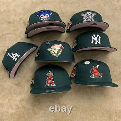 Hat Club Exclusive Green Eggs Ham Pinky Brim UV New Era 59Fifty Fitted MLB Pin