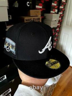 Hat Club Exclusive Icy Blue Atlanta Braves Size 7 1/8 Frostbite 1997 2016 Patch