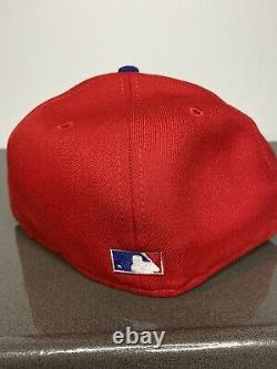 Hat Club Exclusive Icy Blue Brim Phillies Fitted 7 1/4 09 WS Patch