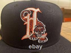Hat Club Exclusive Lakeland Tigers 1994 New Era Fitted Hat 7 3/4 Navy Gray UV