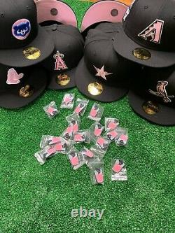 Hat Club Exclusive MLB Cookies N Cream UV New Era 59Fifty Fitted Cap Pinky