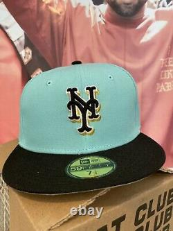 Hat Club Exclusive Mint Condition New Era Mets Size 7 1/4 New York Fitted Cap