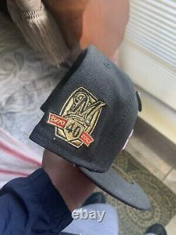 Hat Club Exclusive New Era 59Fifty Beer Pack Milwaukee Brewers 40th Anniversary