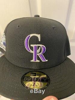Hat Club Exclusive New Era Colorado Rockies 1998 All Star Fitted Hat Pink UV
