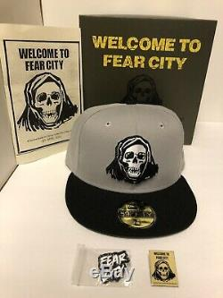 Hat Club Exclusive New Era FEAR CITY New York 59Fifty Hat Size 7 5/8 New With Box