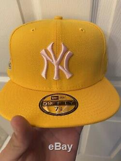 Hat Club Exclusive New Era NY Yankees 1950 World Series Yellow Pink UV 59Fifty