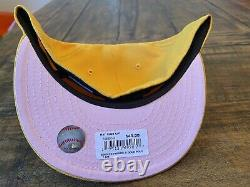 Hat Club Exclusive New York YANKEES 2008 All Star Patch Pink Lemonade Size 7 5/8