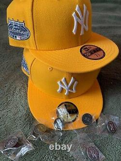 Hat Club Exclusive New York Yankees All Star Game 2008 59fifty Gold Pink UV