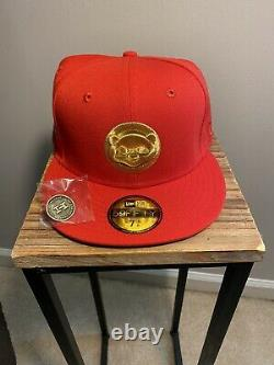 Hat Club Exclusive Olympic Pack Red Chicago Cubs Alternate New Era Fitted 7 3/8