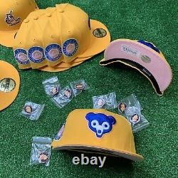 Hat Club Exclusive Pink Lemonade Pinky Brim UV New Era 59Fifty Fitted MLB Pin