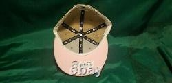 Hat Club Exclusive Sandstorm Tampa Bay Devil Rays Inaugural Patch Pink UV Fitted