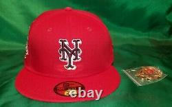 Hat Club Exclusive Sweethearts Red New York Mets 50th Anniversary Patch Pink UV
