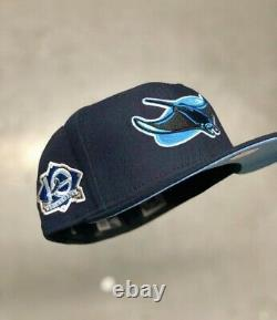 Hat Club Exclusive Tampa Bay Rays Blue Icy UV 10 Seasons Patch 7 3/8