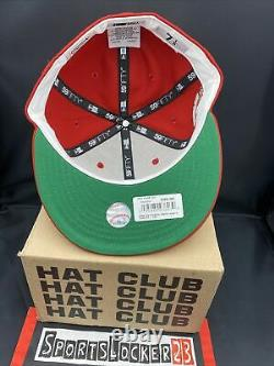 Hat Club MLB Christmas Red New York Yankees Green Apple 7 1/8 NEW ERA IN HAND