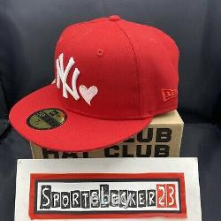 Hat Club MLB Red Sweethearts New York Yankees 100th Anniv Patch 7 1/8 NEW ERA