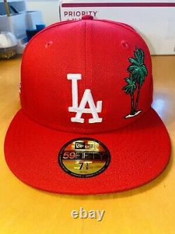 Hat Club New Era 59FIFTY Los Angeles Dodgers Lakers Palm Tree SZ 7 3/8 just don