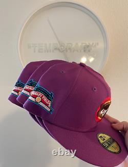 Hat Club New Era Chicago Cubs Purple Red/Pink KANYE UV Wrigley Field Patch 7 1/8