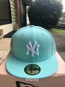Hat Club New York Yankees 1996 World Series Patch Fitted Hat 7 1/2 Mint White