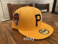 Hat Club Pittsburgh Pirates Gold Black 1959 All Star Game New Era Fitted 7 3/4