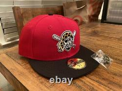 Hat Club Pittsburgh Pirates Jolly Roger New Era Fitted 7 3/4 Red Black Gray UV