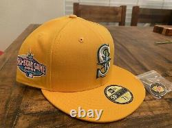 Hat Club Seattle Mariners 2001 All Star Game Pink Lemonade New Era Fitted 7 3/4