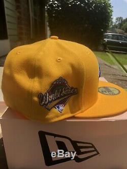 Hat Club Taxi Toronto Blue Jays 1992 World Series Patch Fitted Hat 7 1/2 Gold