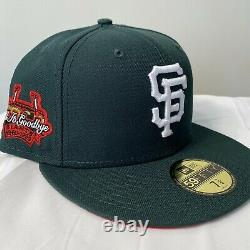 Hat Club Watermelon San Francisco Giants Red UV Patch Fitted Hat new era 7 3/8