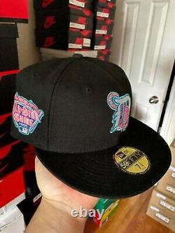 Hatclub Exclusive Aux Pack Detroit Tigers 7 1/4 Pink UV 2005 All Star Patch