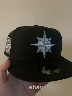 Hatclub Exclusive Seattle Mariners New Era Blue Icy 59FIFTY 7 3/4 Fitted Hat