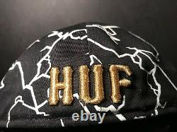 Huf X New Era Fitted Hufquake Cap Hat AF1 Air Force One 8 9 Black Golf 10 Dunk