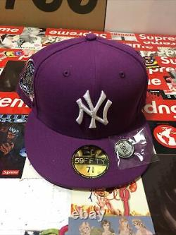 Jae Tips Hat Club Yankees Subway Series 5950 Purple Fitted BRAND NEW Size 7 3/8