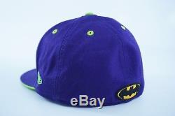 Joker Batman Hat Cap New Era 59Fifty Rare Purple Green Fitted 7 1/4 DC Comics