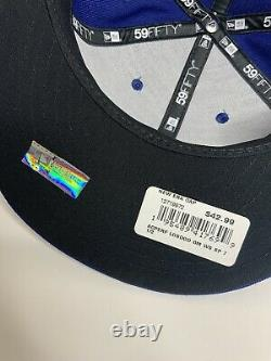 LA Dodgers 2020 World Series Side Patch New Era 59FIFTY Fitted Hat Men 7 1/2 NEW