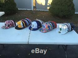 LOT OF 40X FITTED HATS NEW ERA BOSTON VARIOUS SIZES FREE SHIPPING
