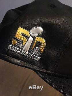 Limited Edition New Era Levi's NFL Superbowl 50 59fifty leather and denim cap