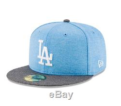 Los Angeles Dodgers Adult New Era 59FIFTY 2017 Father's Day Fitted Hat Blue