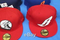 Lot of 10 Billionaire Boys Club Fitted Hats New Era 7 5/8 Pre-Owned