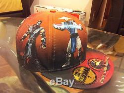 MORTAL KOMBAT 9 x NEW ERA 59Fifty Fitted Baseball Cap Preview II RARE