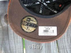 Men's Jeremy Scott X New Era Ostrich 59FIFTY Fitted Cap Brown Size 7 1/2 RARE