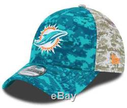 Miami Dolphins 2015 Salute to Service NFL New Era Cap Hat Size Small/Medium S/M