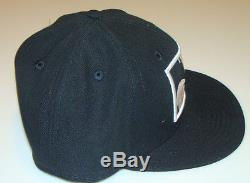 Mickey Mouse New Era Cap Hat Fitted 7 1/2 Zoomed In Black Logo Disney 59Fifty