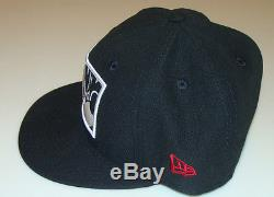 Mickey Mouse New Era Cap Hat Fitted 7 3/8 Zoomed In Black Logo Disney 59Fifty