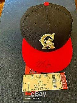 Mike Trout Autographed Cap California Angels New Era High End New Era Fitted Hat