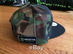 Monster Energy New Era 9fifty Hat CAMO Athlete Only SnapBack Red Bull