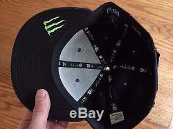 Monster Energy New Era 9fifty Hat Steel Grey Athlete Only SnapBack Red Bull